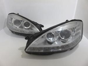 BENZ ベンツ W221 後期 純正 キセノンヘッドライト 左右セット